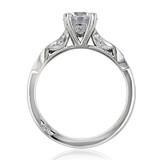 1.00 Ct. Round Moissanite Tacori Ribbon Engagement Ring (2573SMRD65-M)