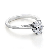 1.50 Ct. Oval Shape Moissanite Platinum Simply Tacori Solitaire Engagement Ring (2650OV8X6-M)