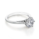 1.50 Ct. Round Moissanite Platinum Simply Tacori 6-Prong Solitaire Engagement Ring (2650RD75-M)