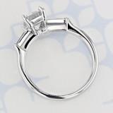Three-Stone Emerald Shape Moissanite Engagement Ring (2006078)