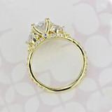 Micro-Prong Oval Shape Diamond Engagement Ring (2006088)