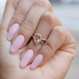Rose Gold Morganite Engagement Ring (R862-4)
