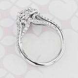 Gabriel NY Halo Round Shape Lab Diamond Engagement Ring (2006050)
