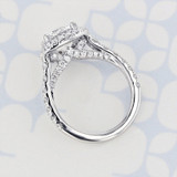 Gabriel NY Halo Round Shape Lab Diamond Engagement Ring (2006172)