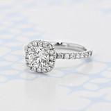 Halo Round Shape Diamond Engagement Ring (CR15HM)