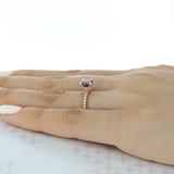 Grey Moissanite Engagement Ring (CR19)