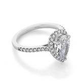 2 ct Pear Shape Halo White Gold Engagement Ring (31-799)