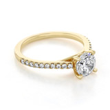 1 ct Round Micro-Prong Yellow Gold Engagement Ring (FG55)