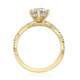 1 ct Round Twist Yellow Gold Engagement Ring (FG58)