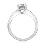 1 ct Round Pavé White Gold Engagement Ring (DC26)