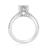 1.50 ct Cushion Micro-Prong White Gold Engagement Ring (FG529)
