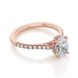 Hidden Halo Micro-Prong Engagement Ring (CR09OV)