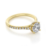 1 ct Round Hidden Halo Yellow Gold Engagement Ring (CR09Y)