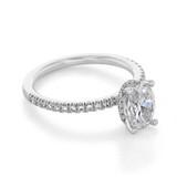 1.25 Oval Gabriel Hidden Halo White Gold Engagement Ring (ER13903)