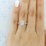 1.50 ct Oval Gabriel Hidden Halo White Gold Engagement Ring (ER13903-150)