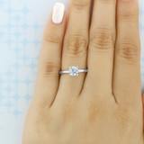 .75 ct Round Gabriel Solitaire White Gold Engagement Ring (ER14982-075)