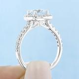 1.25 ct Round Gabriel Halo White Gold Engagement Ring (GC03M)
