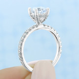 1.25 ct Round Gabriel Micro-Prong White Gold Engagement Ring (GC39)