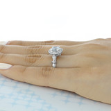 2 ct Halo White Gold Engagement Ring (CR175)