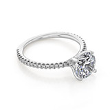 2 ct Round Micro-Prong White Gold Engagement Ring (BR0260-200)