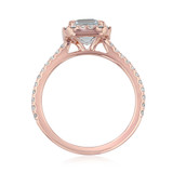 Rose Gold Aquamarine Engagement Ring (R1052-4AQ)