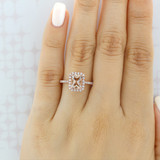 Rose Gold Morganite Engagement Ring (R1052-4)