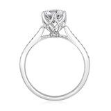 1 ct Round 6-Prong Pavé White Gold Engagement Ring (MR8)