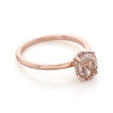 Rose Gold Morganite Engagement Ring (R1108)