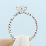 1 ct Danhov Eleganza Braided White Gold Engagement Ring  (ZE111)