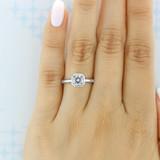 1.25 ct Danhov Per Lei Bezel White Gold Engagement Ring  (LE100-AS)