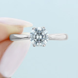 1 ct Danhov Classico 6-Prong White Gold Engagement Ring  (CL117)