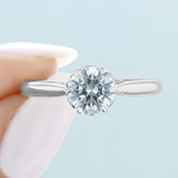 1 ct Danhov Classico 6-Prong White Gold Engagement Ring  (CL105)