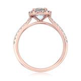 Rose Gold Aquamarine Engagement Ring (R0868-4AQ)