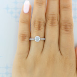 1 ct Danhov Classico 6-Prong White Gold Engagement Ring  (CL108)
