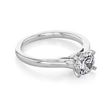 1 ct Round Gabriel Solitaire White Gold Engagement Ring (ER8073)