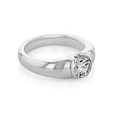1 ct  Round Solitaire White Gold Engagement Ring (SO29)