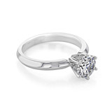 1 ct Round 6-Prong Solitaire White Gold Engagement Ring (SO44)