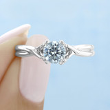 .75 ct Round Solitaire White Gold Engagement Ring (FG428)
