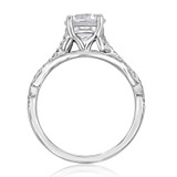 1.25 ct Round Micro-Prong Ribbon White Gold Engagement Ring (MR3)