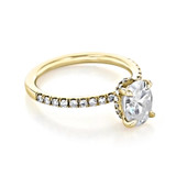 1.50 ct Oval Hidden Halo Yellow Gold Engagement Ring (CR19OV-YG)