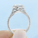 1 ct Round Halo White Gold Engagement Ring (CR14)