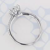 Pavé Cushion Shape Diamond Engagement Ring (2004410)