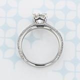 Pavé Round Shape Diamond Engagement Ring (2006642)