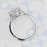 Solitaire Round Shape Moissanite Engagement Ring (2006484)