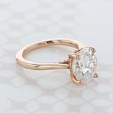 Hidden Halo Oval Shape Moissanite Engagement Ring (2006848)