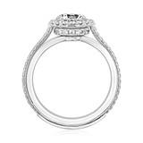 1 ct Danhov Unito Halo White Gold Engagement Ring  (UE112)