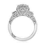2.20 Ct. Round Moissanite Platinum Tacori Dantela Engagement Ring (2623RDLGP-M)