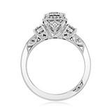 1.00 Ct. Round Moissanite Tacori Dantela Three-Stone Engagement Ring (2623RDSMP-M)