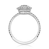 1 ct Danhov Solo Filo Halo White Gold Engagement Ring  (SE113)