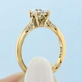 1 ct Tacori Dantela Yellow Gold Engagement Ring (2638RD65Y)
